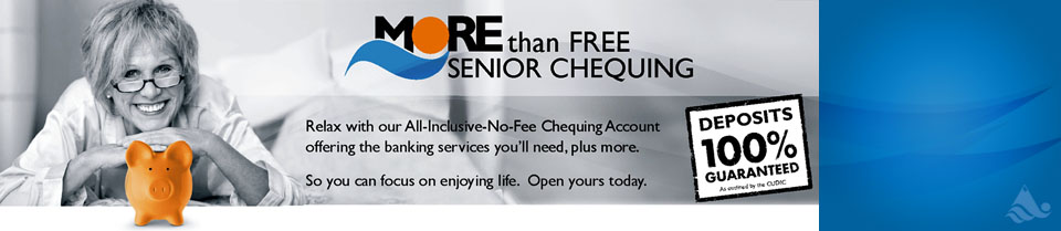 MORE Than Free Senior Chequing